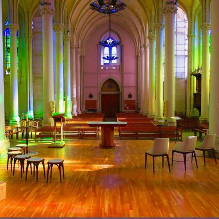 Église Saint-Léger nouveaux vitraux - oct 2017